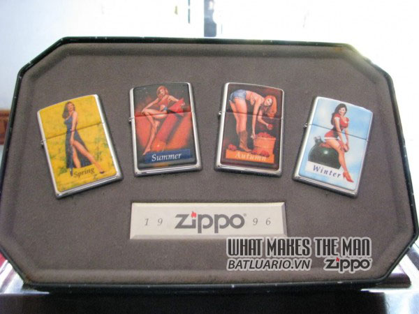 ZIPPO COTY 1996 - Single lighter 4 lighter Companion Set Pinup Girls 1