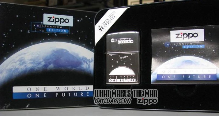 ZIPPO COTY 1999 - Zippo One World One-Future Our Century Companion Piece 1