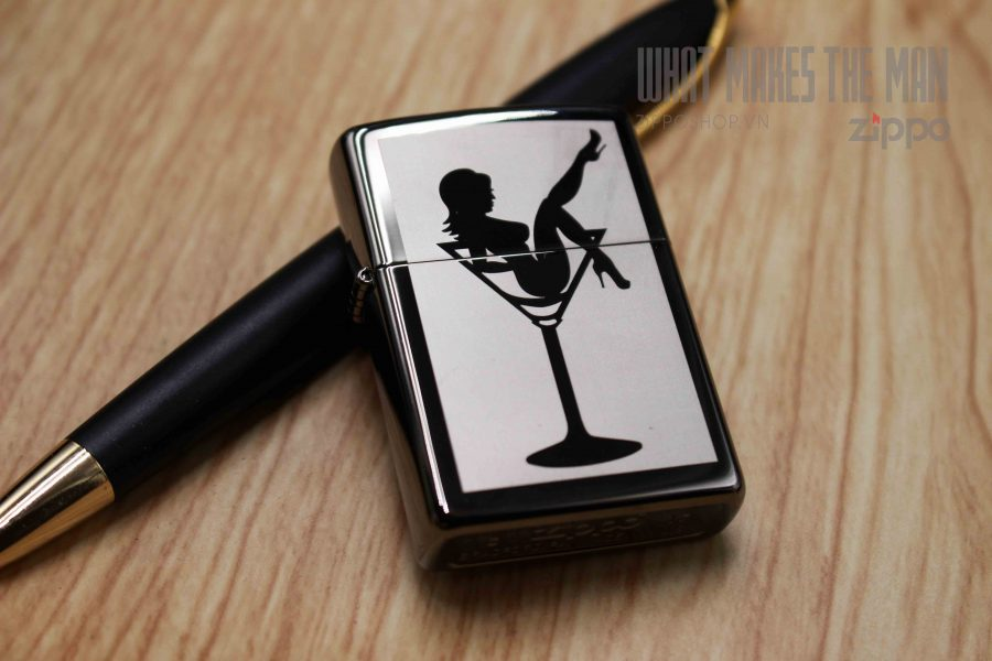 ZIPPO 150 LADY IN COCKTAIL GLASS 1