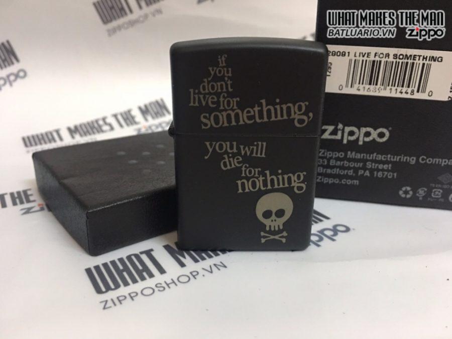 Zippo 29091 - Zippo Live for Something Black Matte