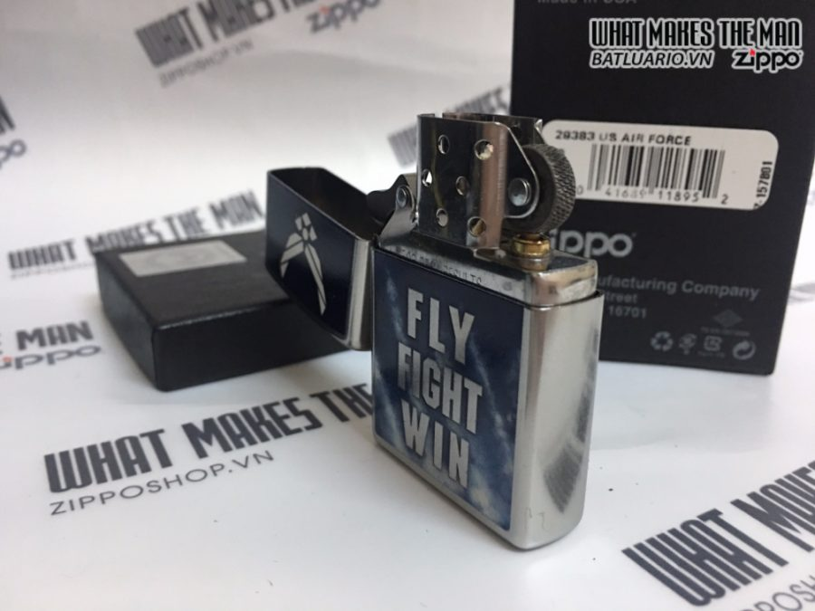 Zippo 29383 - Zippo US Air Force Fly Fight Win Street Chrome