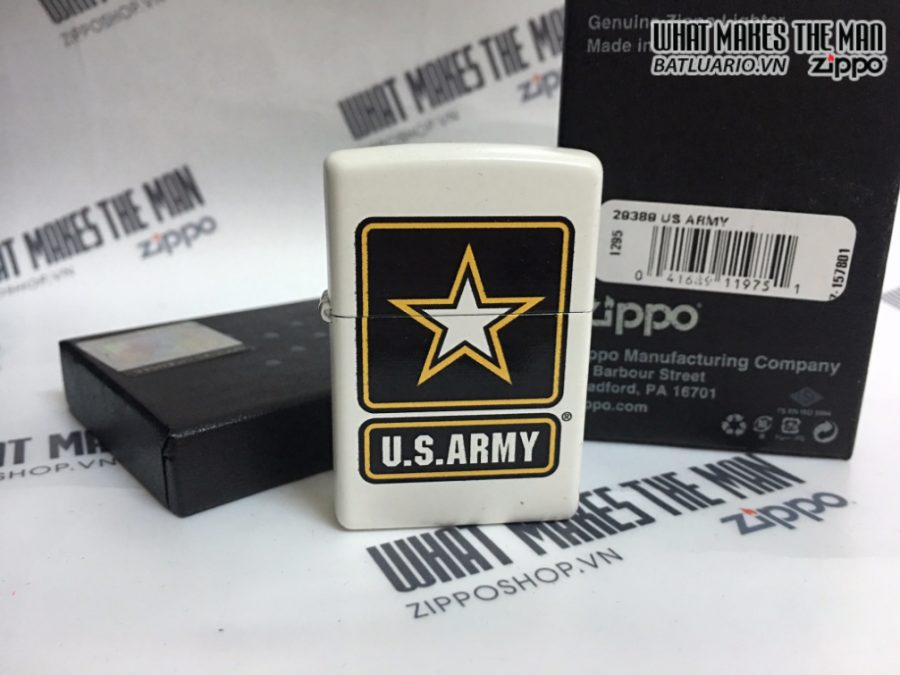 Zippo 29389 - Zippo US Army Star White Matte