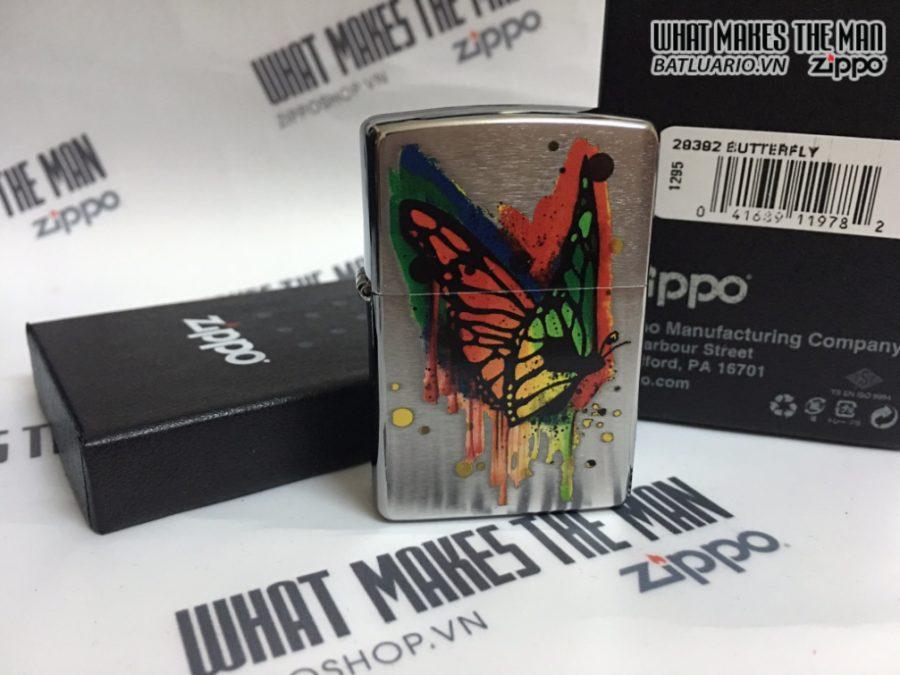 Zippo 29392 - Zippo Butterfly Brushed Chrome