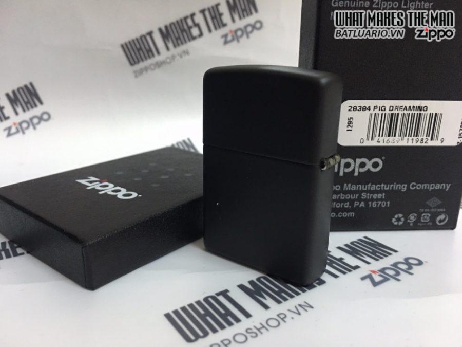 Zippo 29394 - Zippo Pig Dreaming Black Matte