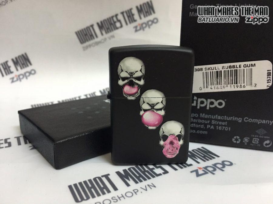 Zippo 29398 - Zippo Skull Bubble Gum Black Matte