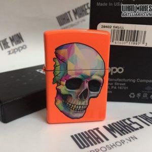Zippo 29402 - Zippo Sexy Skeleton Neon Orange