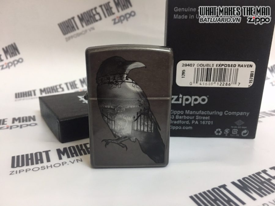 Zippo 29407 - Zippo Double Exposed Raven Gray Dusk