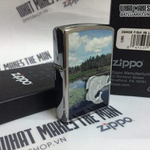 Zippo 29408 - Zippo Fish In Lake Brushed Chrome