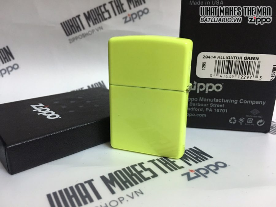 Zippo 29414 - Zippo Alligator Green Neon Yellow
