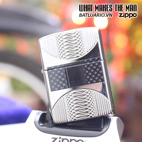 ZIPPO 167 COILS & COLOR HIGH POLISH CHROME