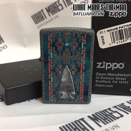 ZIPPO 211 INDIAN PATTERN ARROWHEAD