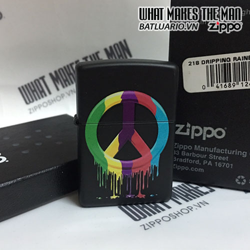 ZIPPO 218 DRIPPING RAINBOW PEACE