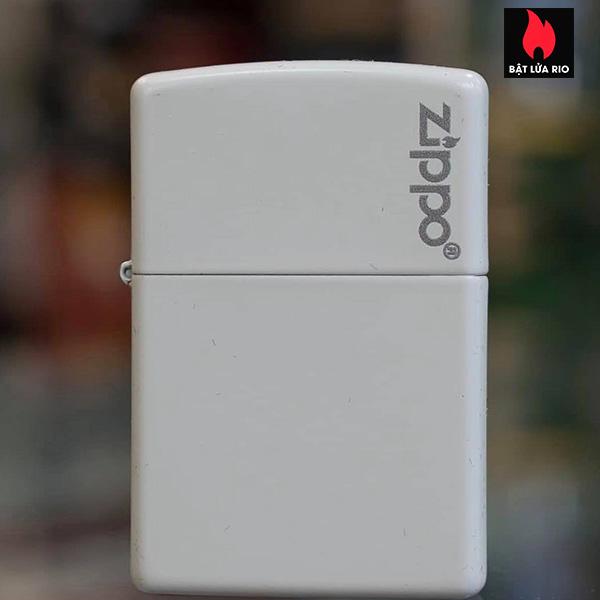 Zippo 214ZL - Zippo White Matte With Logo 2