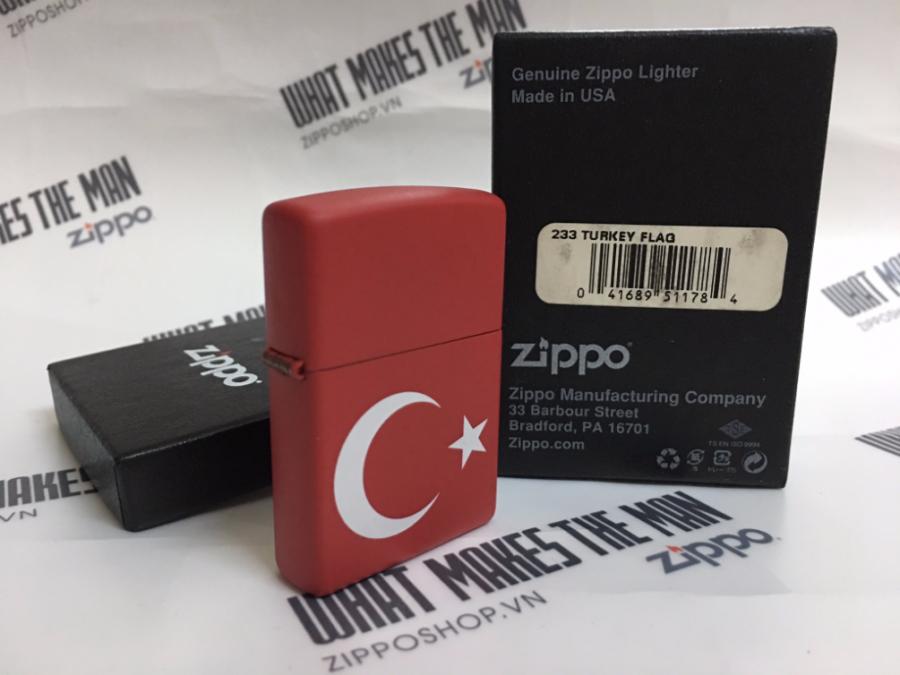 ZIPPO 233 TURKEY FLAG 2