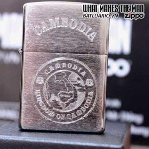 ZIPPO KHẮC CAMBODIA 10- ZIPPO 200.CAM10