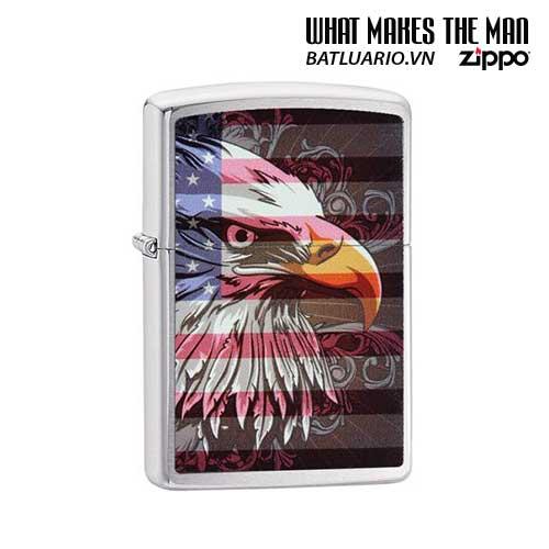 Zippo 28652 – Zippo Eagle Flag Brushed Chrome