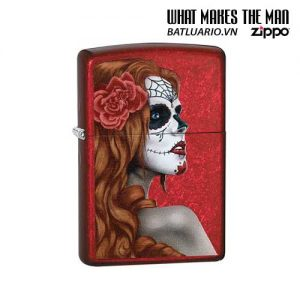 Zippo 28830 – Zippo Day of The Dead Girl Candy Apple Red