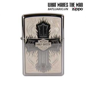 Zippo 28982 – Zippo Harley Davidson Cross Polished Chrome