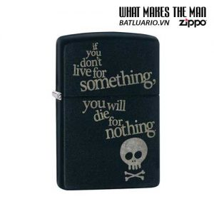 Zippo 29091 – Zippo Live for Something Black Matte