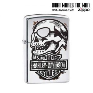 Zippo 29281 – Zippo HD Skull High Polish Chrome
