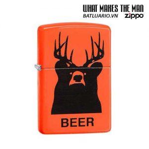 Zippo 29343 – Zippo Beer Bear Neon Orange