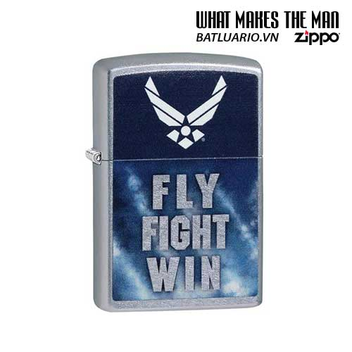 Zippo 29383 – Zippo US Air Force – Fly Fight Win Street Chrome