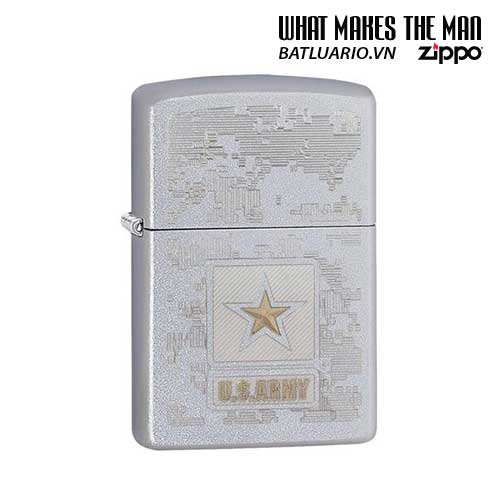 Zippo 29388 – Zippo US Army – Star Satin Chrome
