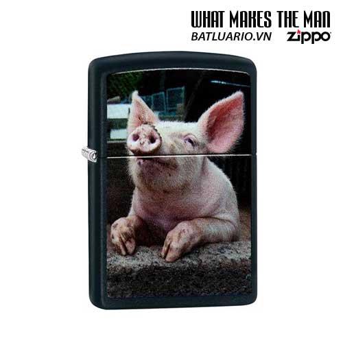 Zippo 29394 – Zippo Pig Dreaming Black Matte