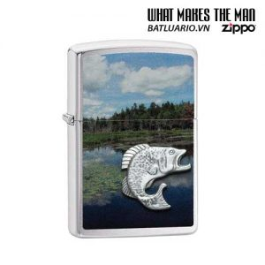Zippo 29408 – Zippo Fish In Lake Brushed Chrome
