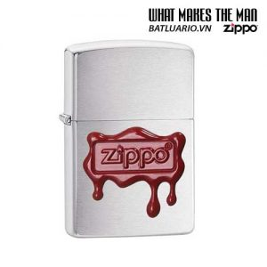 Zippo 29492 – Zippo Red Wax Seal Brushed Chrome