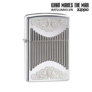 Zippo 29507 – Zippo Armor Deep Carved Design High Polish Chrome