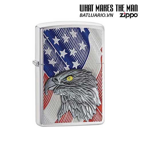 Zippo 29508 – Zippo Eagle USA Flag with Eagle Emblem