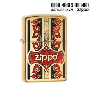 Zippo 29510 – Zippo Logo Fusion High Polish Brass