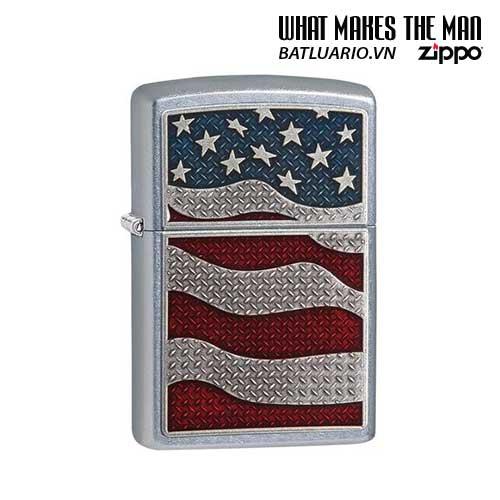 Zippo 29513 – Zippo USA Flag Diamond Plate Emblem