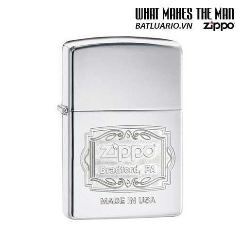 Zippo 29521 – Zippo Bradford PA High Polish Chrome