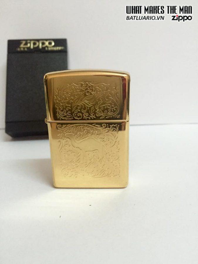 ZIPPO LA MÃ 1996 – CAMEL GOLD PLATE 22K 4