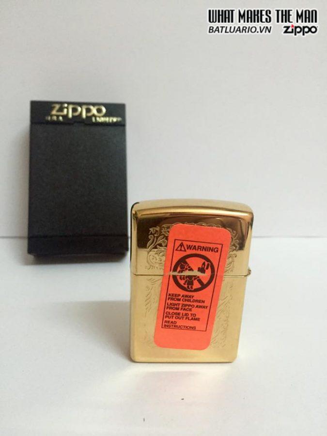 ZIPPO LA MÃ 1996 – CAMEL GOLD PLATE 22K 5