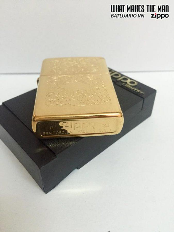 ZIPPO LA MÃ 1996 – CAMEL GOLD PLATE 22K 7