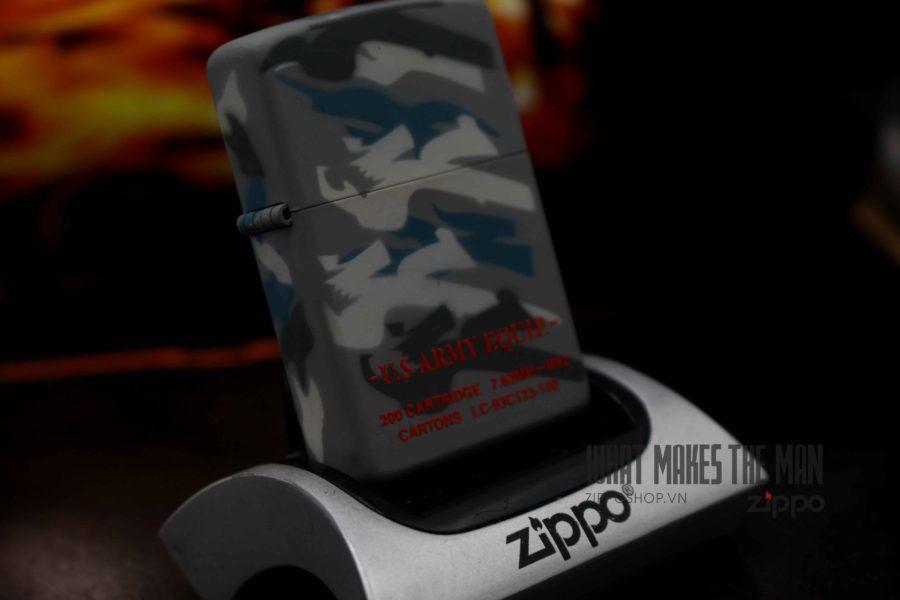 ZIPPO 2001 - CAMO - US ARMY EQUIP - XUẤT NHẬT 11