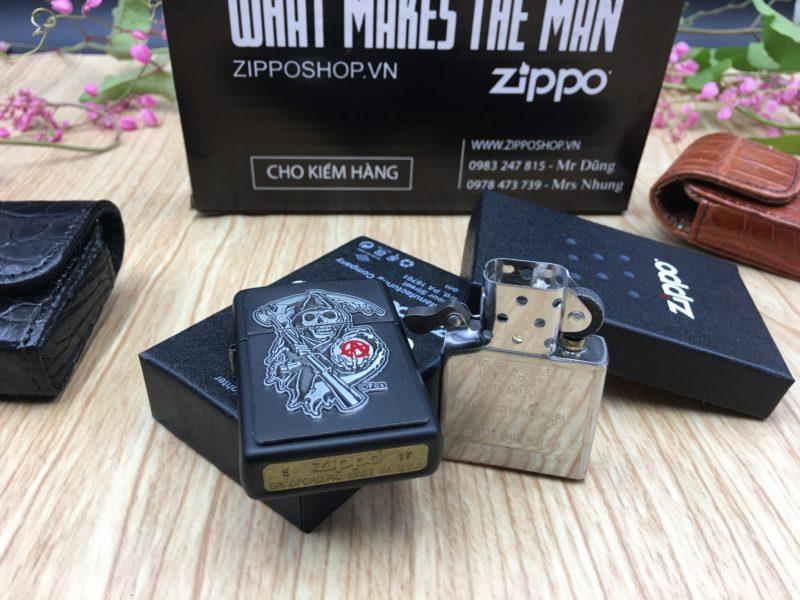 Zippo 29489 - Zippo Soa Emblem Black Matte 10