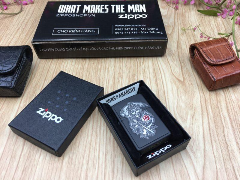 Zippo 29489 - Zippo Soa Emblem Black Matte 2