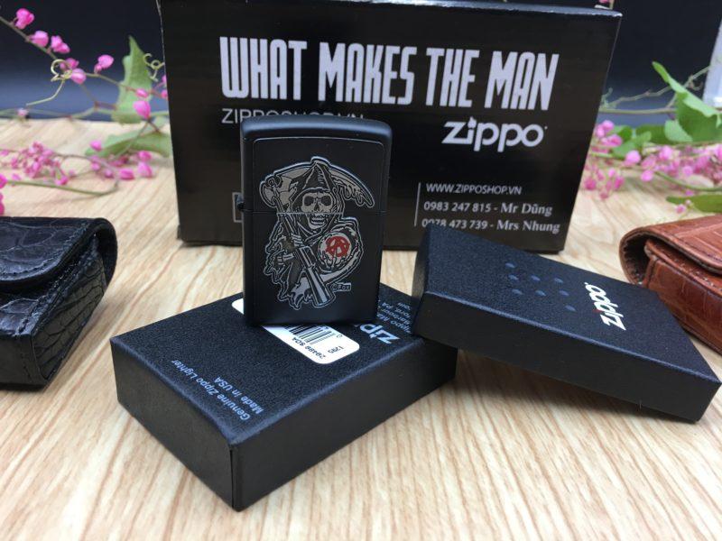 Zippo 29489 - Zippo Soa Emblem Black Matte 3