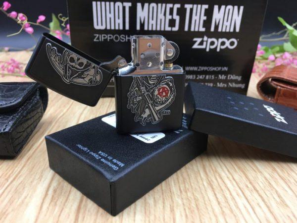 Zippo 29489 - Zippo Soa Emblem Black Matte 8