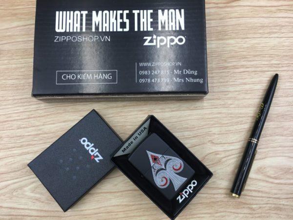 Zippo 29491 - Zippo Spade Emblem Black Matte 1