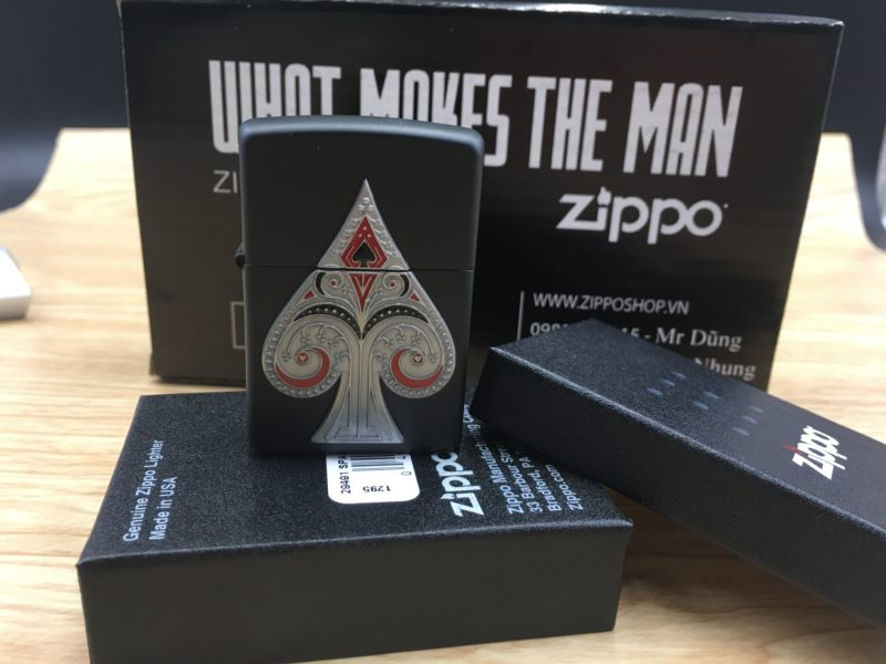 Zippo 29491 - Zippo Spade Emblem Black Matte 2