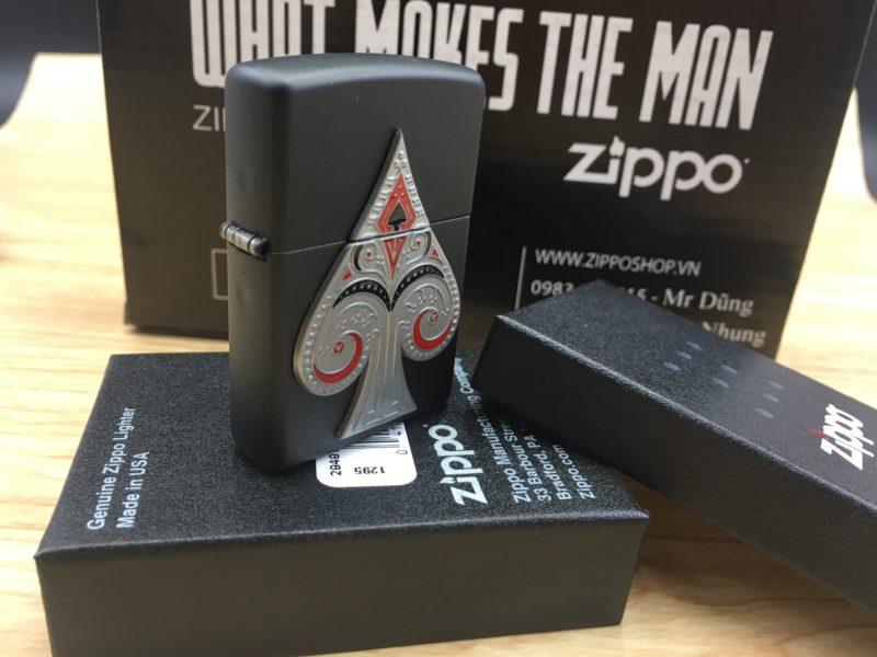 Zippo 29491 - Zippo Spade Emblem Black Matte 3