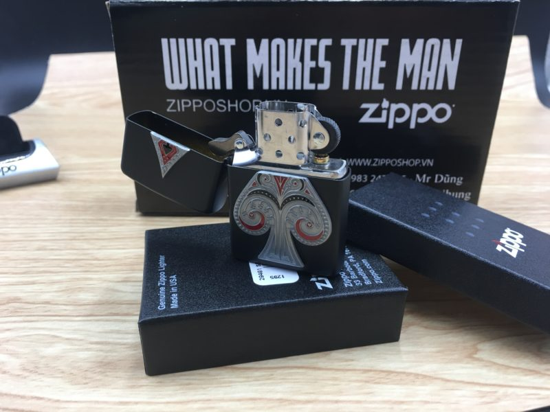 Zippo 29491 - Zippo Spade Emblem Black Matte 7