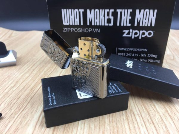 Zippo 29498 - Zippo Armor™ Old Royal Filigree Black Ice 11