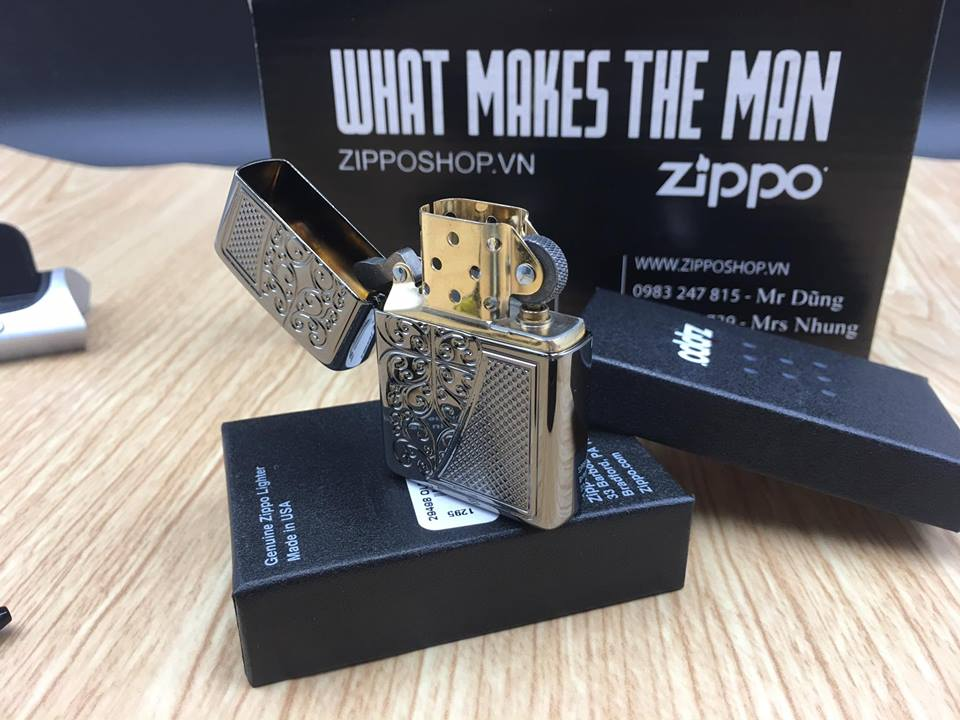 Zippo 29498 - Zippo Armor™ Old Royal Filigree Black Ice 11