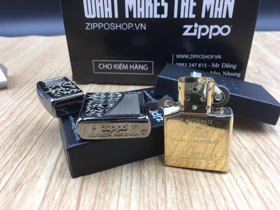 Zippo 29498 - Zippo Armor™ Old Royal Filigree Black Ice 12